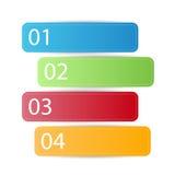 Bannière ou étiquette d'infographics de Web avec des options de nombre Images libres de droits