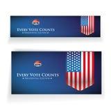 Bannière 2016 ou affiche d'élection présidentielle illustration libre de droits