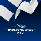 Bannière ou affiche de célébration de Jour de la Déclaration d'Indépendance de la Finlande Indicateur Illustration de vecteur Photos libres de droits