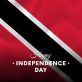 Bannière ou affiche de célébration de Jour de la Déclaration d'Indépendance du Trinidad-et-Tobago Indicateur de ondulation Illust illustration libre de droits