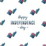Bannière ou affiche de célébration de Jour de la Déclaration d'Indépendance du Tuvalu Modèle sans couture avec le drapeau de ondu illustration libre de droits