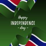 Bannière ou affiche de célébration de Jour de la Déclaration d'Indépendance de la Gambie Drapeau de la Gambie Illustration de vec illustration de vecteur