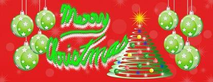 Bannière panoramique de panorama de Joyeux Noël Photographie stock