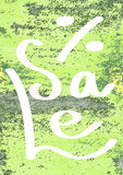 Bannière peinte à la main avec des taches et des taches de peinture Fond d'aquarelle illustration stock
