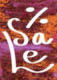 Bannière peinte à la main avec des taches et des taches de peinture Fond d'aquarelle Images stock