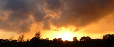 BANNIÈRE peinte de ciel Photos libres de droits