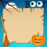 Bannière plate de Halloween de style illustration de vecteur