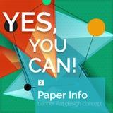 Bannière plate de place de conception avec le slogan Photographie stock