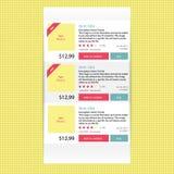 Bannière plate moderne abstraite d'options d'infographics pour la boutique en ligne Image libre de droits