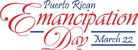 Bannière portoricaine de jour d'émancipation Image libre de droits
