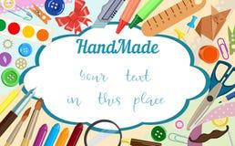 Bannière pour des annonces au sujet des activités créatives et fait main Illustration de vecteur illustration libre de droits