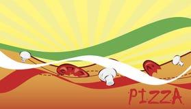 Bannière pour la pizzeria Images libres de droits
