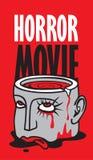 Bannière pour le festival de film d'horreur, cinéma effrayant illustration de vecteur