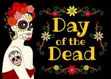 Bannière pour le jour des morts Photos libres de droits