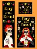 Bannière pour le jour des morts Image libre de droits