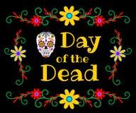 Bannière pour le jour des morts Images libres de droits