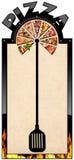 Bannière pour le menu de pizza Photos stock