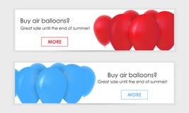 Bannière pour le Web, boules de gel illustration libre de droits