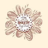 Bannière pour une boulangerie Photos libres de droits