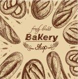Bannière pour une boulangerie Image stock