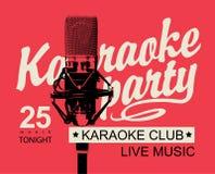 Bannière pour une partie de karaoke Photographie stock
