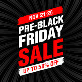 bannière Pré-noire de vente de vendredi Images libres de droits