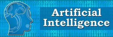 Bannière principale binaire d'intelligence artificielle