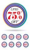 Bannière ronde multicolore de vente Photos libres de droits