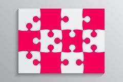Bannière rose de puzzle de morceau Étape 12 Fond illustration stock
