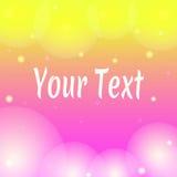 Bannière rose et jaune de papier peint avec le texte Photos stock