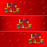 Bannière rouge de Web de grande vente advertising illustration stock