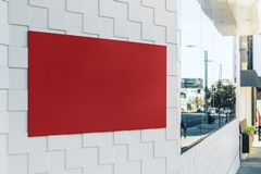 Bannière rouge vide Photo stock