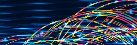 Bannière RVB de mer de vague d'arc-en-ciel Photos libres de droits