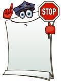 Bannière stylisée de loi du trafic Photos libres de droits