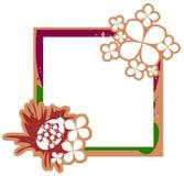 Bannière sur le fond coloré abstrait avec la fleur Photographie stock libre de droits