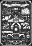 Bannière tirée par la main de tableau noir Images libres de droits