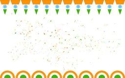 Bannière tricolore d'Inde à vendre et la promotion Photo libre de droits