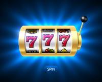 Bannière triple de gros lot de casino de sevens Image libre de droits