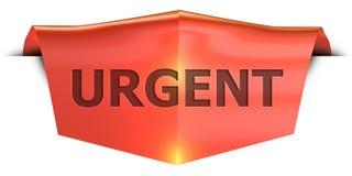 Bannière urgente Photographie stock libre de droits