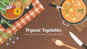 Bannière végétarienne de recettes illustration de vecteur