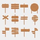 Bannière vide d'enseigne d'enseignes de signe en bois de flèche illustration de vecteur