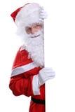 Bannière vide de Santa Claus Christmas avec le copyspace images stock