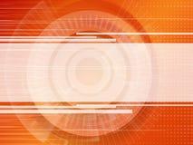 Bannière vide de technologie sur des couleurs spectrales photographie stock libre de droits