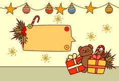 Bannière vide pour la décoration de vacances d'hiver de concept de Joyeux Noël et de bonne année des textes Photos libres de droits