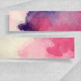 Bannières abstraites avec l'endroit pour votre texte Images libres de droits