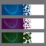 Bannières abstraites de flamme Photographie stock libre de droits