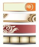 Bannières abstraites de vecteur pour l'en-tête de Web Photos libres de droits