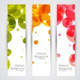 Bannières abstraites géométriques colorées de vecteur illustration stock