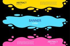 Bannières abstraites lumineuses réglées Un magma de l'eau avec des baisses sur illustration stock