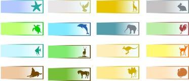 Bannières avec l'animal Photographie stock